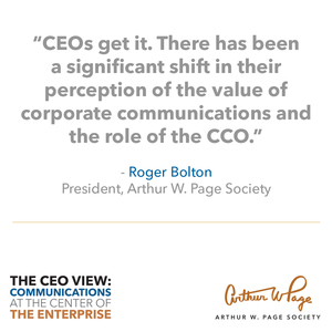 CEOS SEE CHIEF COMMUNICATOR'S ROLE EXPANDING ACROSS THE ENTERPRISE